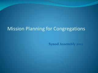 Mission Planning for Congregations