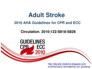 Adult Stroke 2010 AHA Guidelines for CPR and ECC