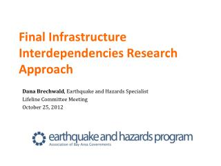 Final Infrastructure Interdependencies Research Approach