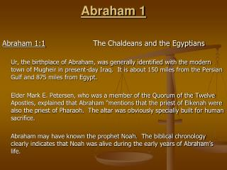 Abraham 1