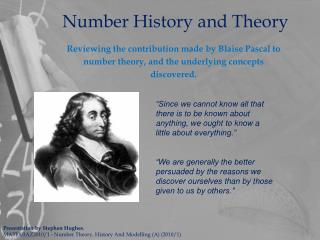 Number History and Theory