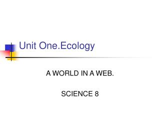 Unit One.Ecology