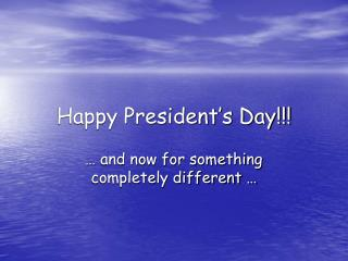Happy President's Day!!!