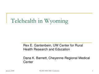 Telehealth in Wyoming