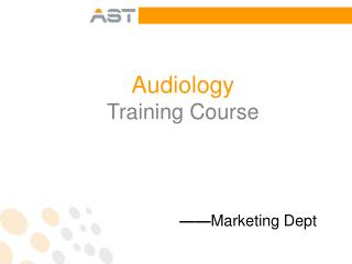 Audiology Training Course