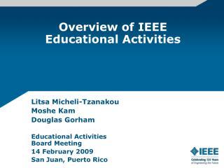 Overview of IEEE Educational Activities