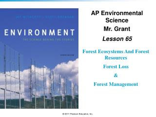 Forest Ecosystems And Forest Resources Forest Loss & Forest Management