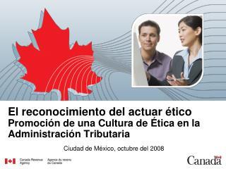 Ciudad de México, octubre del 2008