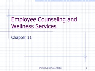 Employee Counseling and Wellness Services