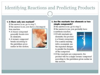Identifying Reactions and Predicting Products