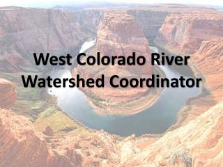 West Colorado River Watershed Coordinator