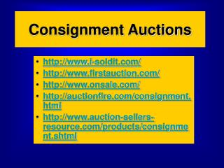 Consignment Auctions