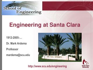Engineering at Santa Clara
