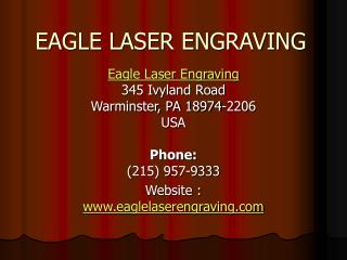 EAGLE LASER ENGRAVING