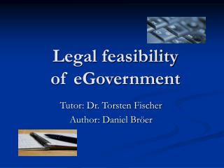 Legal feasibility  of eGovernment