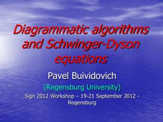 Diagrammatic algorithms and Schwinger-Dyson equations