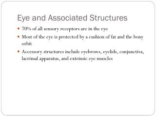 Eye and Associated Structures