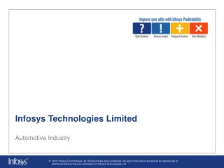 Infosys Technologies Limited Automotive Industry