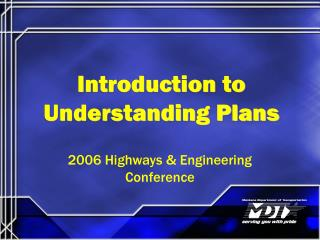 Introduction to Understanding Plans