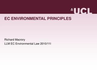 EC ENVIRONMENTAL PRINCIPLES