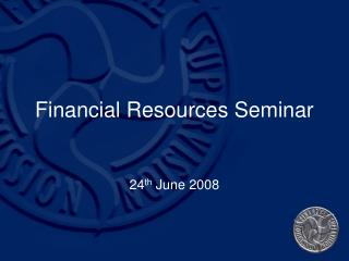 Financial Resources Seminar