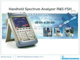 General Purpose Spectrum Analysis  Service  Maintenance  Simple lab applications
