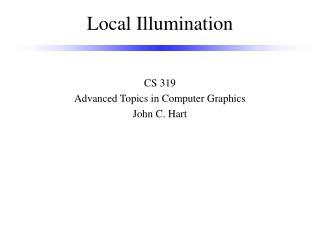 Local Illumination