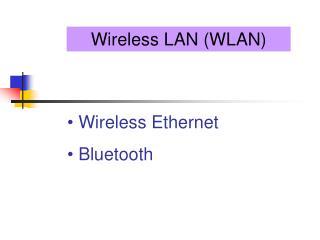 Wireless LAN (WLAN)