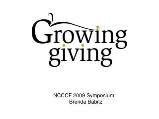 NCCCF 2009 Symposium Brenda Babitz