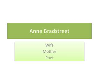 "edward taylor compare anne bradstreet Taylor, ""prologue"" compare anne bradstreet's ""prologue"" with edward tylor's version anne bradstreet edward taylor."