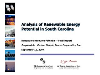 Analysis of Renewable Energy Potential in South Carolina
