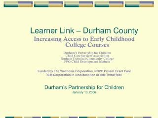 Learner Link � Durham County