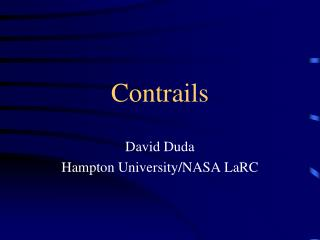 Contrails