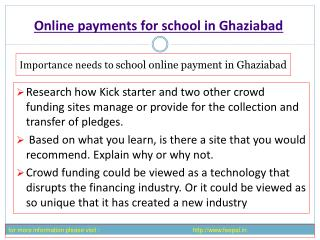 One of the best site of online payment for school in Delhi