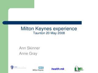 Milton Keynes experience Taunton 20 May 2008