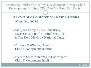 AIRS 2012 Conference- New Orleans May 21, 2012