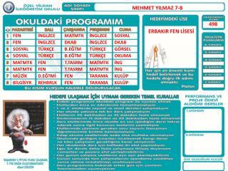 MEHMET YILMAZ 7-B