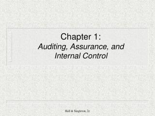 Chapter 1: Auditing, Assurance, and  Internal Control