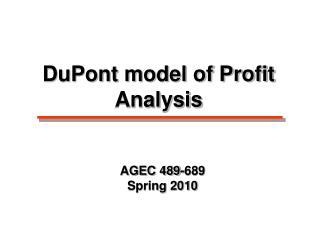 AGEC 489-689 Spring 2010