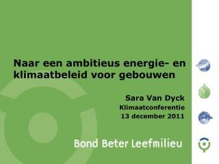 Naar een ambitieus energie- en klimaatbeleid voor gebouwen