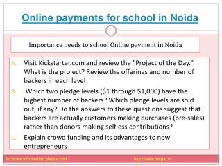 The importance of online payment for school in noida
