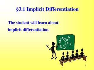 §3.1 Implicit Differentiation
