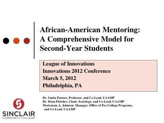 African-American Mentoring: A Comprehensive Model for Second-Year Students
