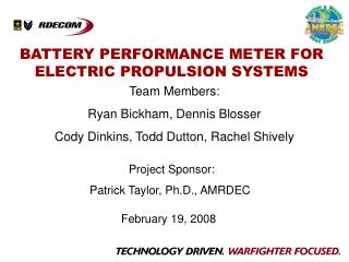 BATTERY PERFORMANCE METER FOR ELECTRIC PROPULSION SYSTEMS