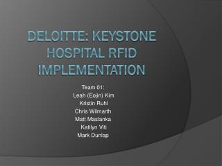 Deloitte: Keystone hospital rfid implementation