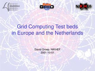 Grid Computing Test beds in Europe and the Netherlands