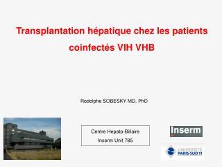 Transplantation hépatique chez les patients coinfectés VIH VHB