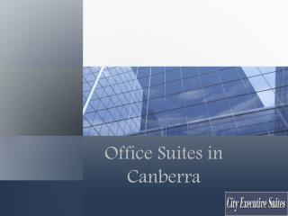 Office Suites in Canberra