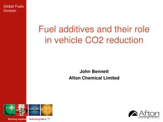 Fuel additives and their role in vehicle CO2 reduction