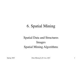6. Spatial Mining